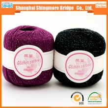 online market knitting yarn hot wholesale glittery cotton yarn for knitting yarns