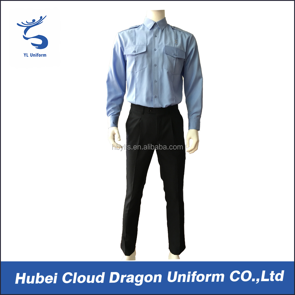 Blue security staff uniform wholesale security clothing for men