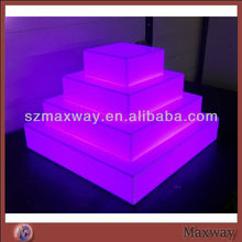 LED Lighted Glow Pyramid Tower Acrylic Cupcake Stand