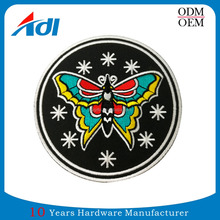 Promotional cheap customized handmade butterfly embroidered patches