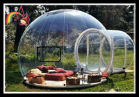 Outdoor Inflatable Bubble Tent with 1 Tunnels Family Backyard Camping Stargazing