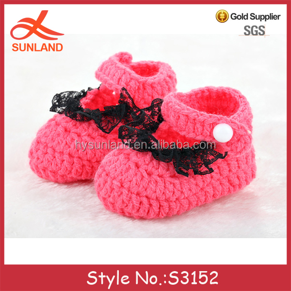 S3152 hot sale 2017 winter cable knit booties crochet baby girl shoes on sale