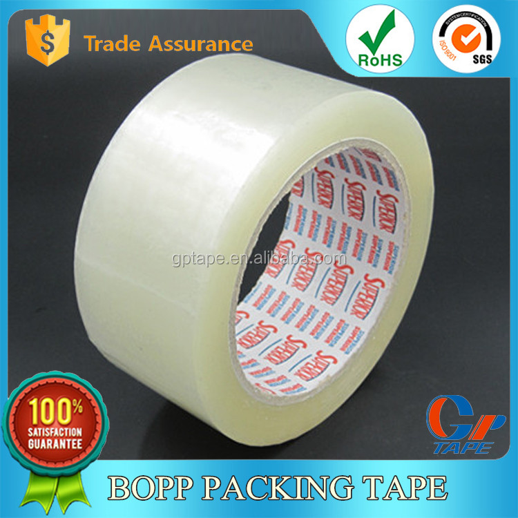 Alibaba Hot Sale Carton Packaging Use Strong Adhesive Acrylic Adhesive Bopp Cellophane Tape