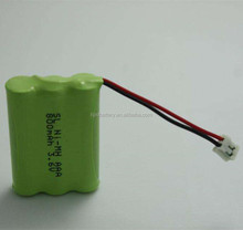 Rechargeable 3.6v aaa 550mah ni-mh batteries pack for solar lamp