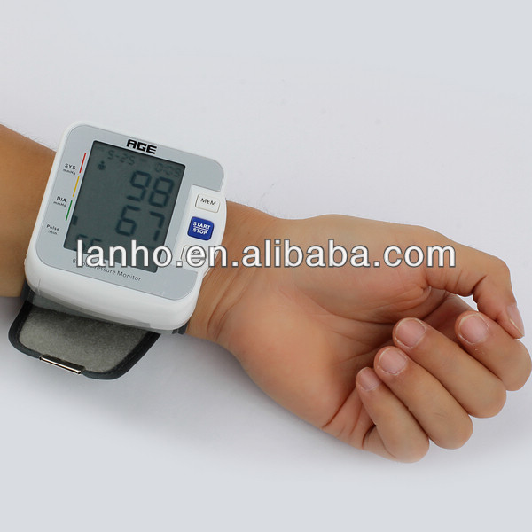 Great Digital LCD Wrist Blood Pressure Monitor Machine Gauge