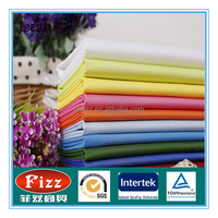 Wholesale polyester/cotton woven plain dyed bed sheet fabric for hotel and hospital