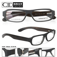 strong bridge woodgrain temple acetate frame optical 8033