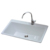 single bowl enameled square luxury farmhouse cast iron kitchen sink