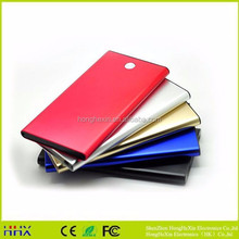 Factory supply Metal casing ultra slim portable power bank rohs power bank 8000mah