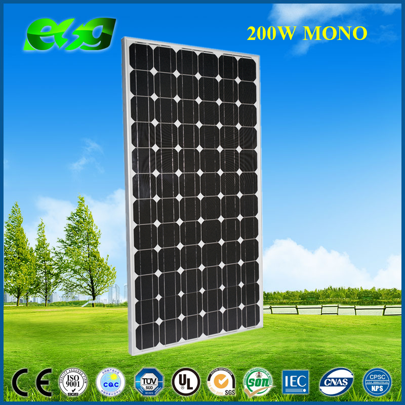China good quality panel solar,pv solar panel price 200w Mono for sale