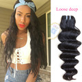 Can be dyed & colored 100% virgin brazilian hair high quality hair extension new hair pattern loose deep weave bundles