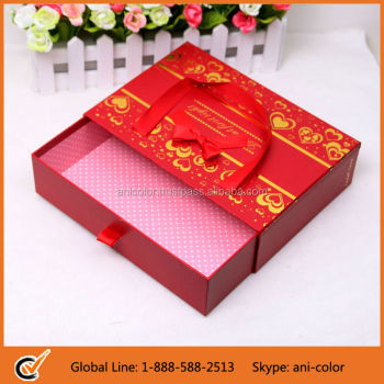 Draw Shaped Rigid Cardboard Packaging Box