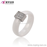 13742-xuping fashionable rhodium color steel ring for women