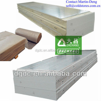 Pu insulation cold room floor panel for freezer room buy for Cold floor insulation