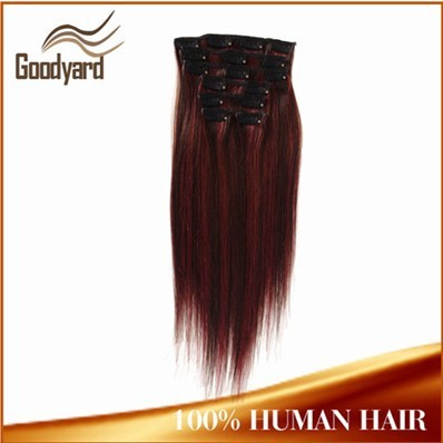 Hot! Double drawn wholesale cheap price full head clip in hair extensions free sample made in france hair clip