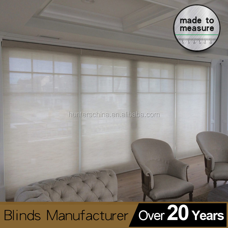 Automatic wireless Block out curtain/electronic shades