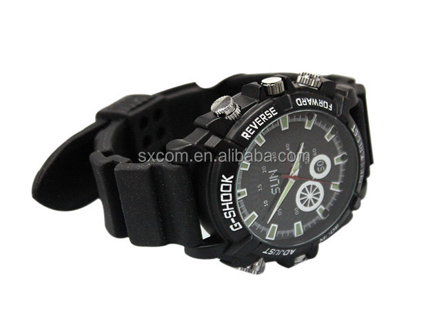 CMOS 5MP 1080p Full HD Waterproof Wrist Watch Hidden Camera with IR Night Vision