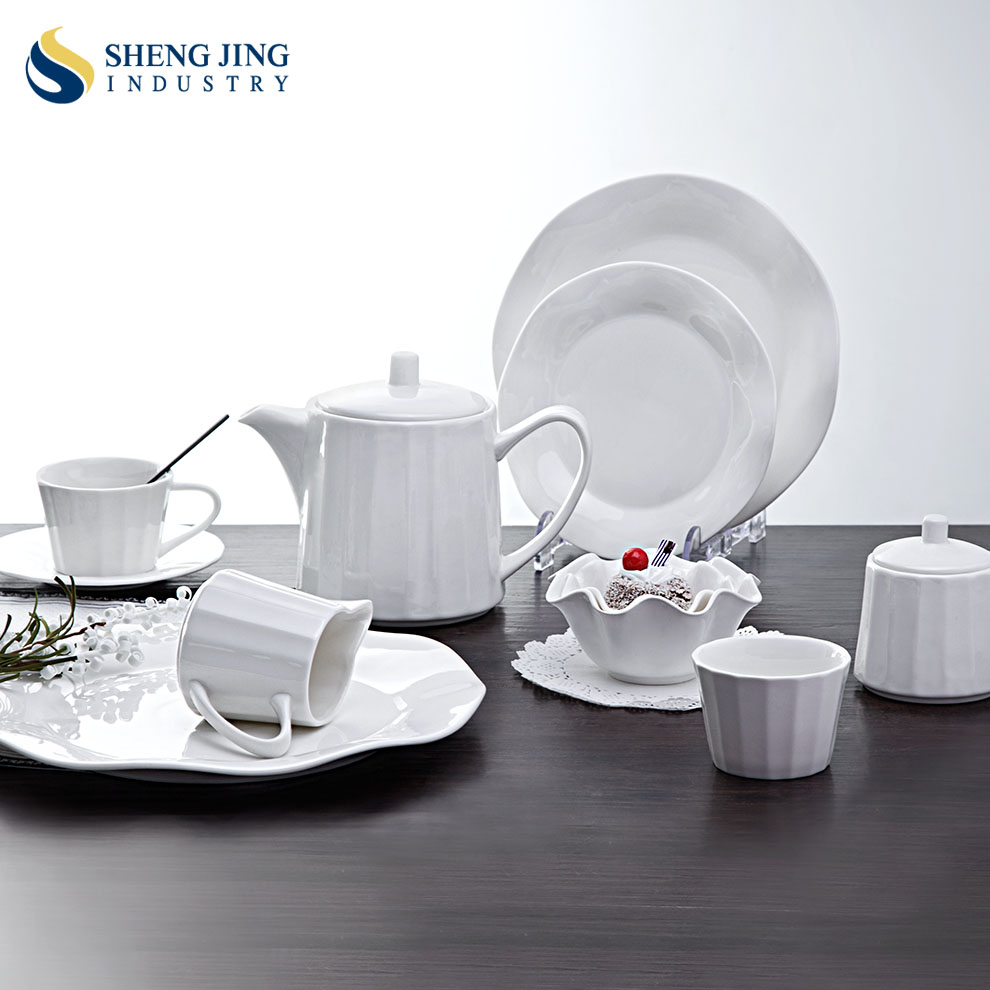 Wholesale Custom Ceramics Curry Tableware Porcelain Crockery Dinner Set For Buffet