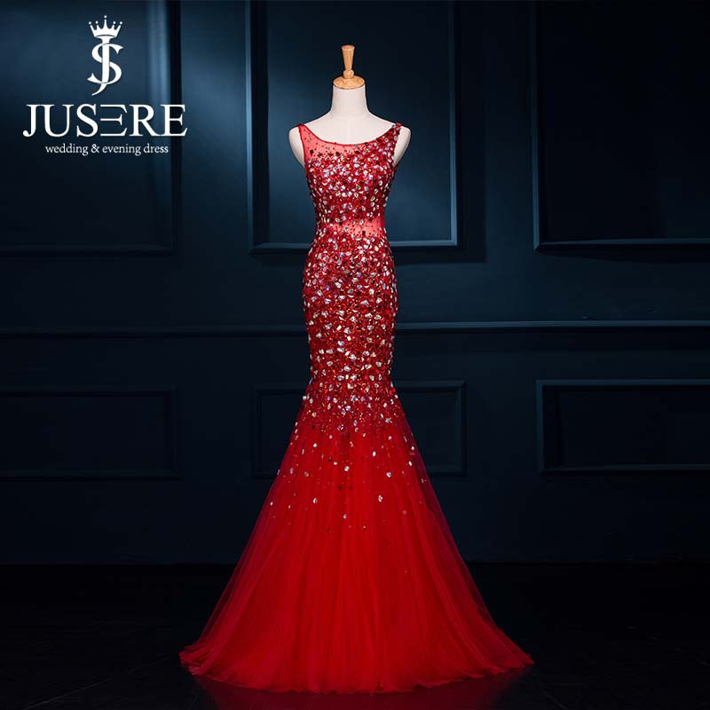 Wholesale Sexy Low Cut Open Back Glitz Sparkling Crystal Beaded Mermaid Prom Dresses 2015