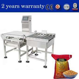 check weigher system with unqualified products rejected automatically