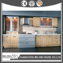 China supplier manufacture competitive wood veneer costumed kitchen cabinet