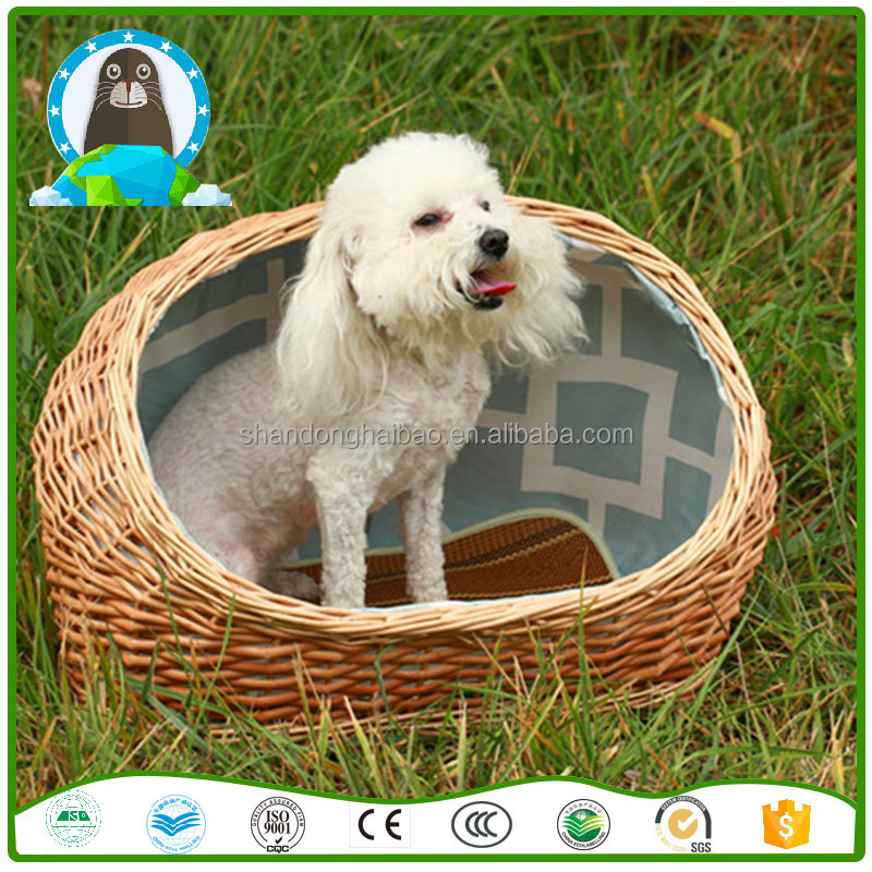 Slipper-style rattan dog kennel