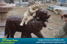 stone animal dog statue for home decor