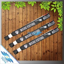 Factory direct custom festival fabric wristbands no minimum order(free sample)