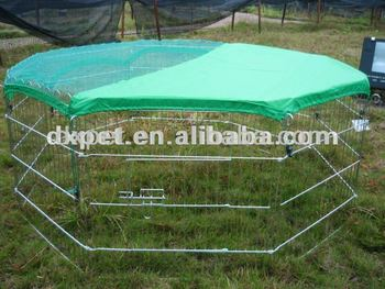 galvanized steel dog kennel DXW004