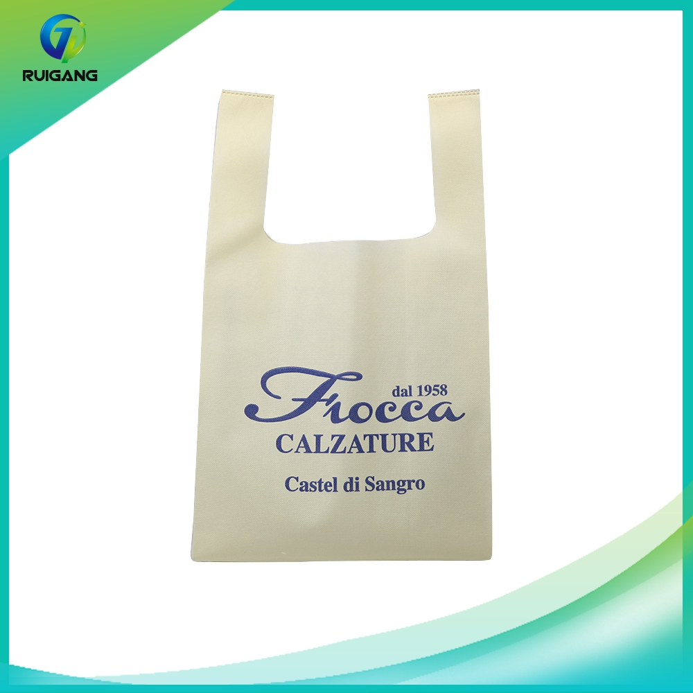 Good price disposable nonwoven cloth shopping bag handle, non woven t-shirt bag