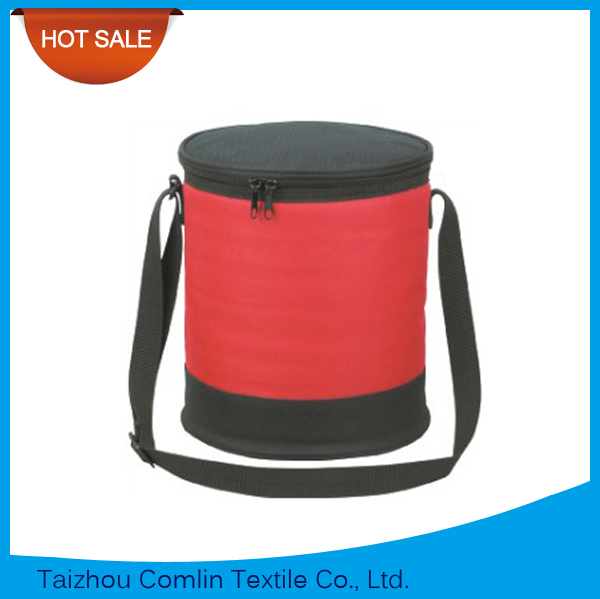 Wholesale 6 Bottles Capacity Round Cooler Bag for Picnic