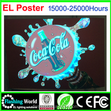 High brightness EL Poster,Lighting Poster,EL Lighting Poster