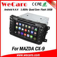 Wecaro Android 4.4.4 car multimedia player double din for mazda cx9 car radio WIFI 3G 16GB Flash