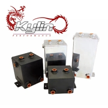 kylin racing aluminum universal fuel surge tank&fuel cell&oil tank 1-4L for universal car model