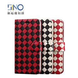 Ultra-thin wallet case for iPhone 6 and for iPhone 6 plus, hand-make knitted pattern