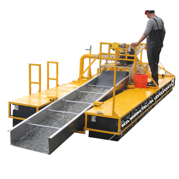 Light portable back-pack dredge gold and diamond dredging machine