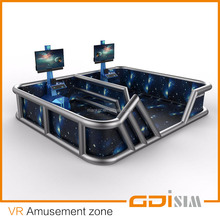 VR experience zone for amusement park with fence large resource