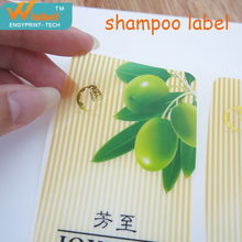 High quality customized top hot package logo shampoo label