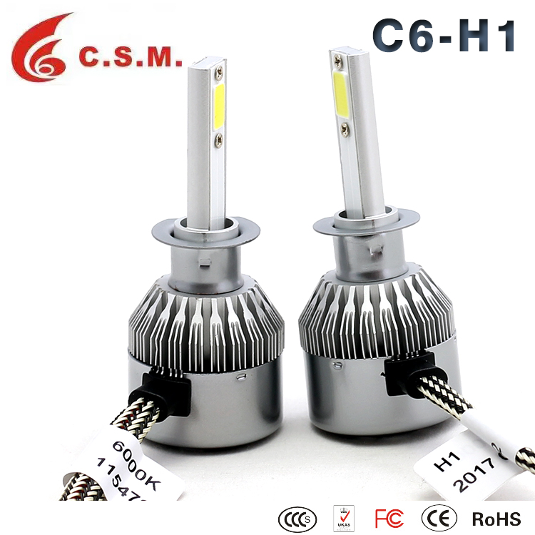 factory Automobiles & motorcycles auto car C6 led headlights bulb kit h4 h7 h11 h13 9007 9004 9005 9006 led headlight