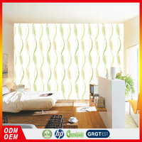 green simple wavy pattern spring color wallpapers for walls