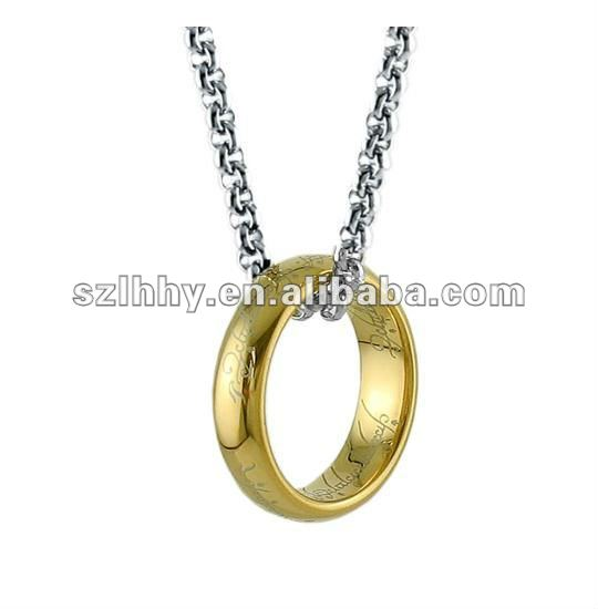 popular tungsten lord of the ring pendant+magnet+IPG