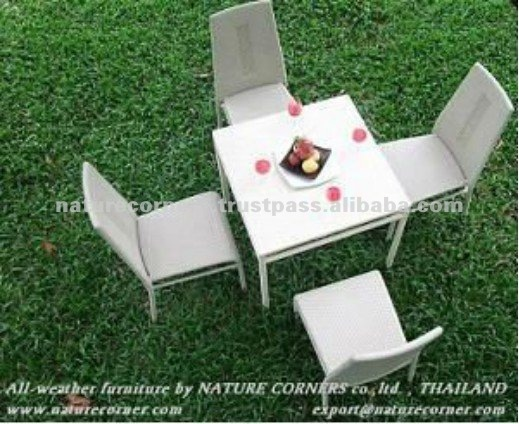 High Quality Rattan Wicker Outdoor Dining Furniture