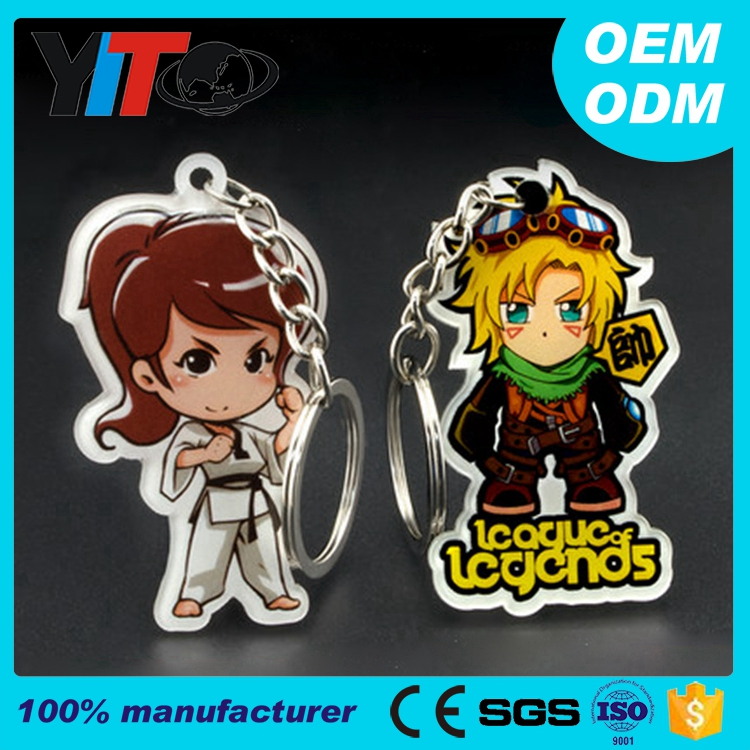 promotional gifts cheap custom any shape acrylic keychain
