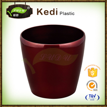colorful supermarket on sale thick plastic flower shape pot colorful flower pots plastic base