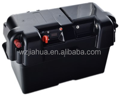 Jiahua plastic pp waterproof 12v car outdoor marine large boat solar camping battery box