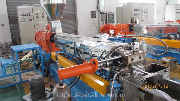 Hottest!Underwater pelletizer Double screw extruder for plastic granule making