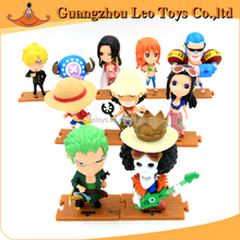 Japanese Cartoon Characters Pirates Mini Plastic Figurine Toys