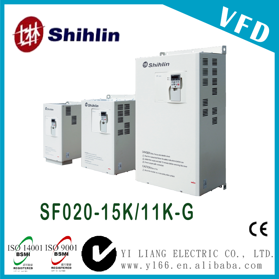 SF020-15K/11K-G 20HP Taiwan three phase dual-load high performance vector control inverter vfd drives prices