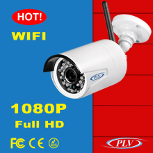 CMS, IE, Mobile Phone remote access wireless outdoor bullet 1080P ip security camera