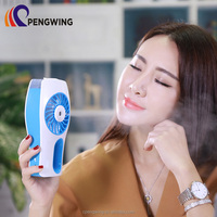 Noiseless Rechargeable Mini Air Cooling Colored Hand-Held Water Mist Spray Fan